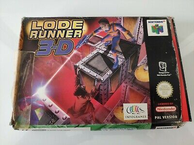 LODE RUNNER 3-D NINTENDO 64 N64 PAL GAME BOXED COMPLETE WITH MANUAL FREE P&P