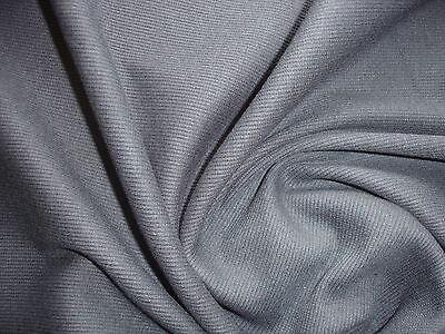 1 Lfm Schlauchstoff 3,70€/m² Strickschlauch Rippstrick grau SB37