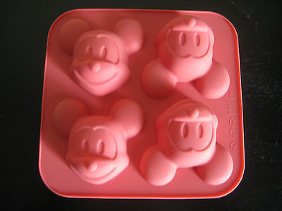 MICKEY MOUSE CUPCAKE BIRTHDAY MINI CAKE PAN SILICONE CHOCOLATE CANDY MOLD  - Mickey Mouse Birthday Cake Pan