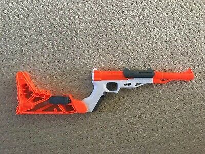 Nerf N-Strike Sharpfire Blaster Pistol With Stock and Barrel Tested & Working!