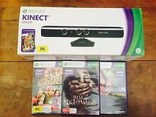 Kinect for XBOX 360 + 3 games Herston Brisbane North East Preview