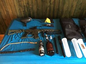 Selling paint ball gun and gear