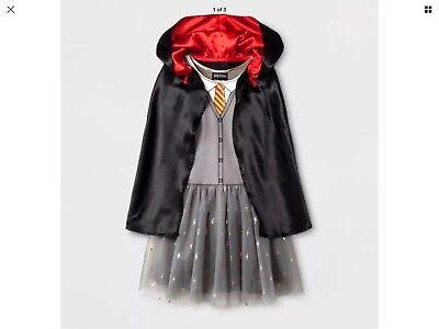 Harry Potter Hermione Granger Costume Gryffindor Dress & Cloak Size S(6/6X) - Costume Hermione Granger