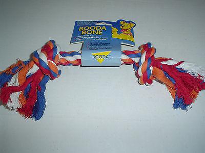 Booda Large 2 Knot Rope Bone Multi Color Dog Toy 25 - 45 lbs. (Bone Multi Color Rope)