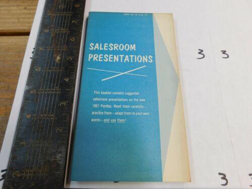 1957 PONTIAC SALESROOM PRESENTATIONS BOOKLET     DEALER USE ORIGINAL