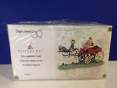 Dept 56 THE GARDEN CART w/box Seasons Bay Village Combine Shipping!
