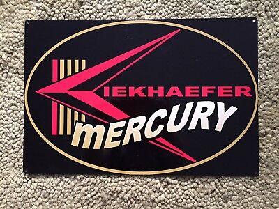 Mercury Kiekhaefer Marine Outboard Motor Cedarbiurg WI Fishing Vintage Sign Lg