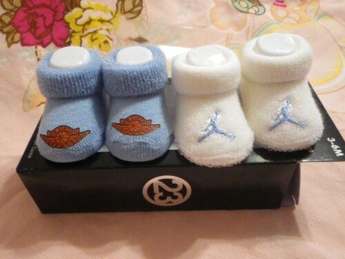 NIB Nike Jordan Baby Newborn Infant Booties/Socks Shoes Size 3-6M Blue