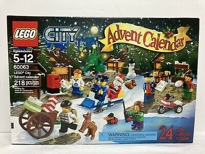 LEGO City Advent Calendar 218 pcs 60063 New Unopened Box