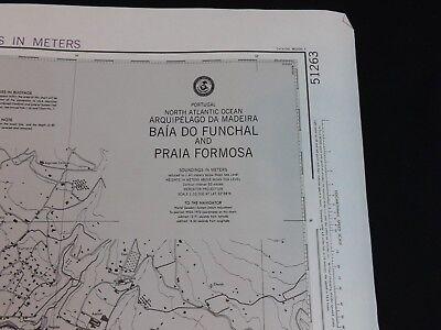 Vintage NOAA Nautical Chart Portugal Baia Do Funchal Praia Formosa 22nd Ed 1983