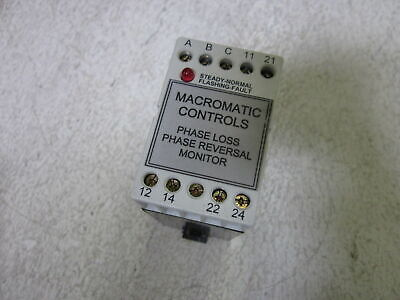 Macromatic Pcd240 Phase Monitor Relay 240v Used