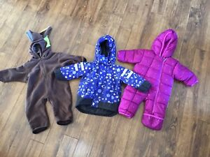 Helly Hansen and Columbia bunting winter jacket 6 to 12 months