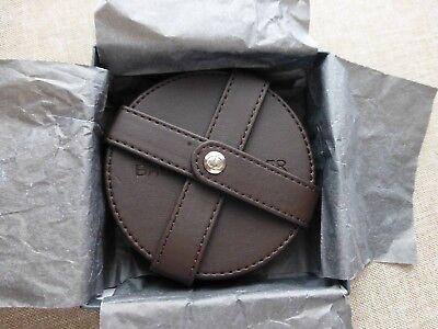Runde Leder Coaster (BAUME & MERCIER - 6 Leder Untersetzer - rar brown leather 6 drink coasters )