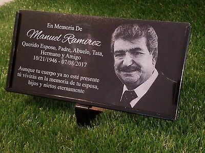 Personalized Pet Stone Memorial Grave Marker Granite Plaque Animal Human 001