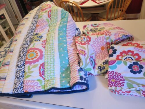 Pottery Barn Teen Reversible Twin Floral Bedspread & Sheet Sets - See Details