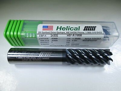 New Helical Solid Carbide 12 End Mill 7 Flute Edp 24332 Titanium Milling Tool