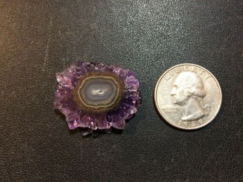 OCL - URUGUAYAN AMETHYST STALACTITE POLISHED SLICE - 1 PIECE  - approx. 30 cts.