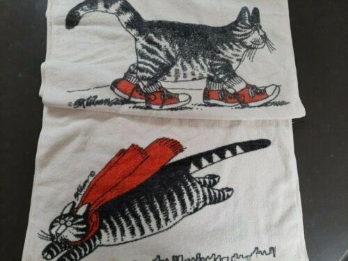 B. Kliban SneakerCat & SuperCat Vintage Bath Towels
