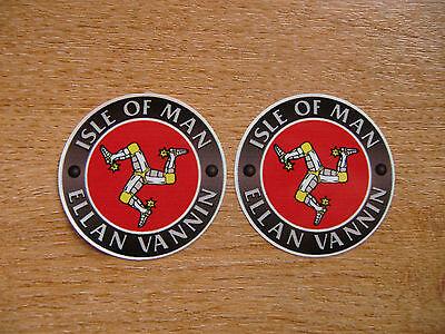 Isle of Man TT races - Ellan Vannin - 50mm decals x2