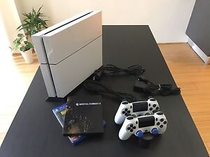 Sony PS4 PlayStation 4 500 GB White 2x Controllers / Games   $385 Perth Perth City Area Preview