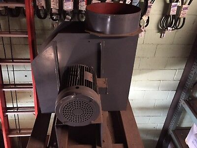 20 Hp Centrifugal Blower Fan 24 Inlet 18 Outlet 3450 Rpm 3 Phase Motor