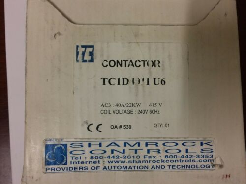 TC1D4011 SHAMROCK 40 AMP 3 POLE CONTACTOR  N.O & N.C AUXILIARY  CONTACTS