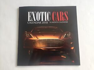 16 MONTH 2018 EXOTIC CAR CALENDAR!!! BRAND NEW!!!