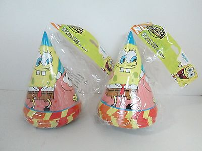 SPONGEBOB BUDDIES CONE HATS 8 pk - LOT OF 2 PACKAGES - Cone Hats
