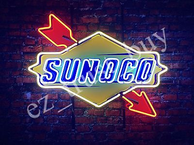"New Sunoco Racing Car Gas Oils Station Gasoline Neon Sign 24""x20"""
