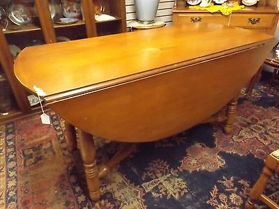 Solid Maple Drop Leaf Dining Room Table & 2 Chairs