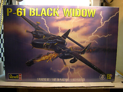 WWII US AIR FORCE P-61 BLACK WIDOW REVELL 1:48 SCALE PLASTIC MODEL PLANE KIT for sale  Forest City