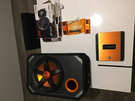 Cadence subwoofer amp and speakers combo