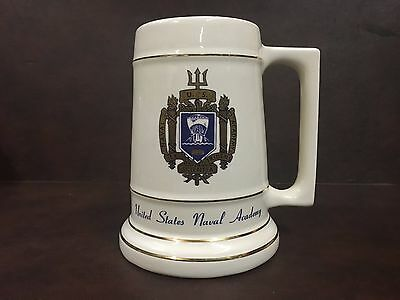 United States Naval Academy 24oz Beer Mug Stein, Perfect Condition, 1976 USNA