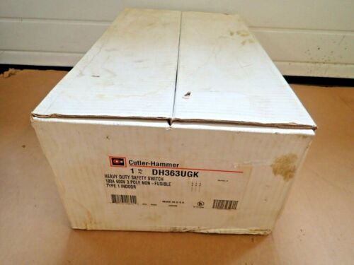 NEW Cutler Hammer DH363UGK 100A 600V 3 Pole Non Fusible Indoor Disconnect