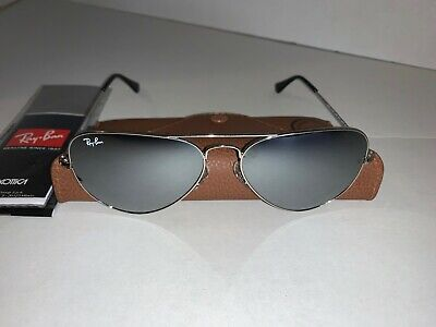 Ray-Ban Aviator Sunglasses RB3025 58mm W3277 Silver Frame w/ Silver Mirror (Rayban Mirrored Aviators)