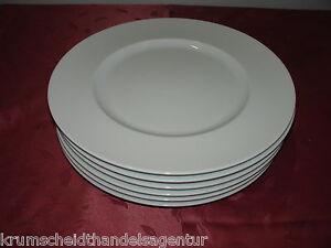 6 Bauscher Teller flach, Speisenteller, Salatteller ,weiß, Teller,Ø32cm