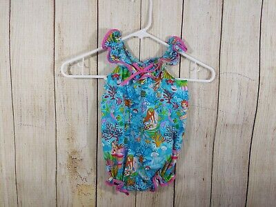 HITOMI Kailua-Kona Hawaii Girls Size 12 Months Mermaid Under the Sea Romper, used for sale  Shipping to Canada