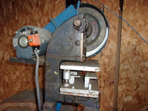 Alva F Allen 2 Ton Mechanical Bench Top Punch Punch Press
