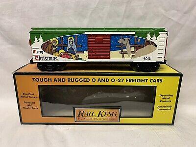 ✅MTH RAILKING 2014 CHRISTMAS BOX CAR 30-74779! FOR O GAUGE TRAIN SET HOLIDAY
