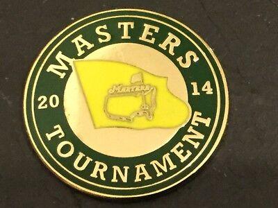 2014 US MASTERS Augusta Logo Flat Coin GOLF BALL MARKER New BUBBA WATSON
