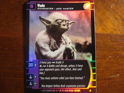 Star Wars TCG Yoda (F) Empire Strikes Back Preview