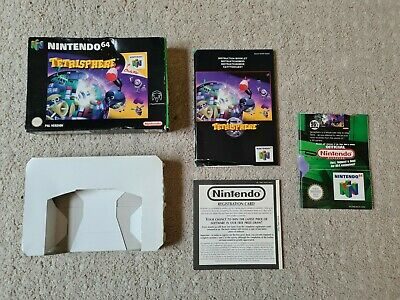Nintendo 64 Tetrisphere Box,manual & Insert ONLY - PAL - N64