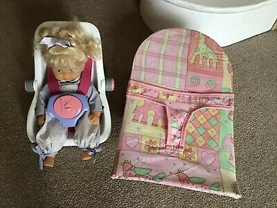 Doll with car seat & recliner