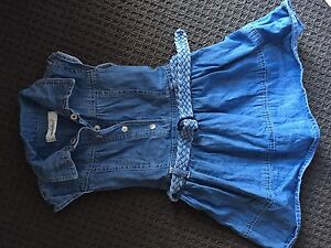 Girls size 1 denim dress with belt Oxenford Gold Coast North Preview