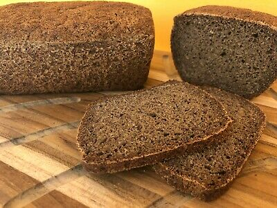 Vegan Healthy Gluten Free Organic Fresh Dark Brown Bread Borodinsky Classic