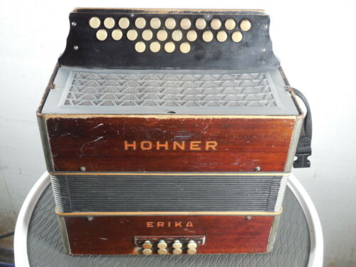 Hohner Erika CF button accordion restored & tuned