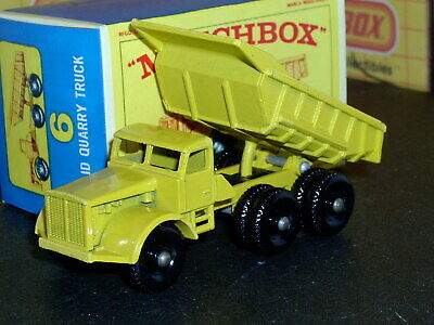 Matchbox Lesney Euclid Quarry Truck 6 c2 regular wheels SC13 VNM crafted box