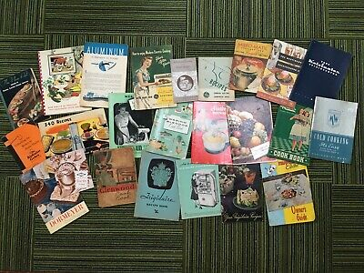 Huge lot vintage recipe booklets Frigidaire GE Kitchen Aid 1930's 1940's 1950's