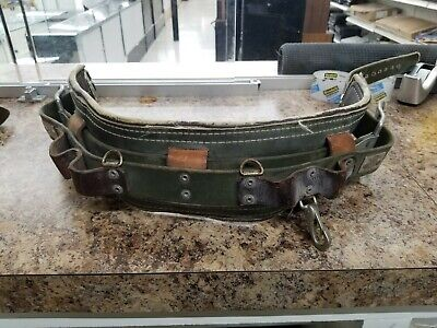 Bashlin Industries Utility Pole Climbing Belt D23 Great Used Condition