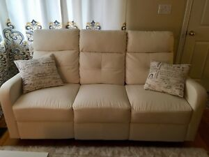 White Reclining Sofa in an Excellent Shape